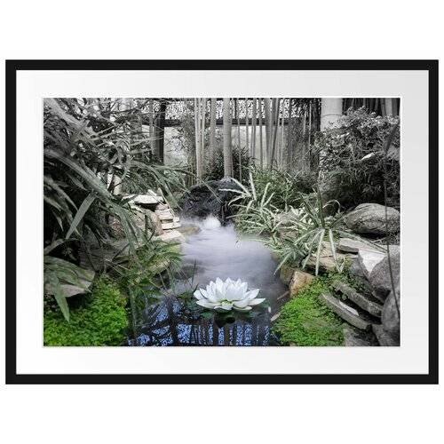 East Urban Home Zen Garden in Japan Framed Photographic Print East Urban Home Size: 60cm H x 80cm W  - Size: 80cm H x 60cm W