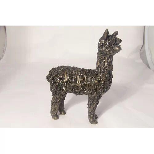 Frith Sculpture Alpaca Figurine Frith Sculpture  - Size: 12cm H X 9cm W X 10cm D