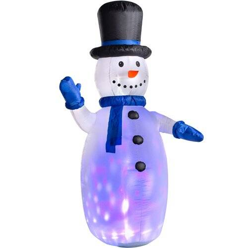 benross animated led projector santa snowman and