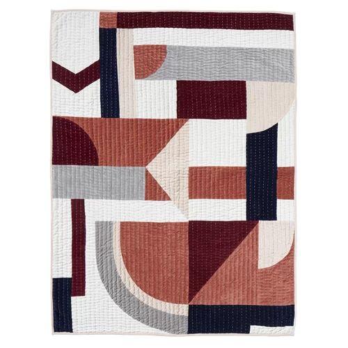 Nordal Patchwork Quilt Nordal Colour: Rose Mix 9cm H X 28cm W X 9cm D