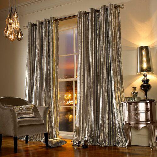 kylie minogue home iliana lined eyelet curtains