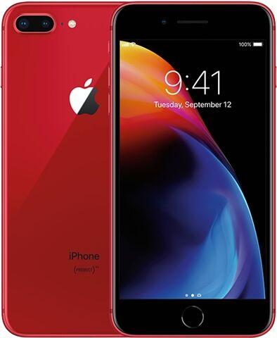 Refurbished: Apple iPhone 8 Plus 64GB Product Red, Unlocked C