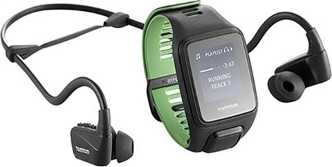TomTom Runner 3 GPS Music+Headphone Smartwatch (Large), B