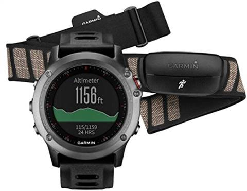 Garmin Fenix 3 GPS Watch with External Heart Rate Monitor, B