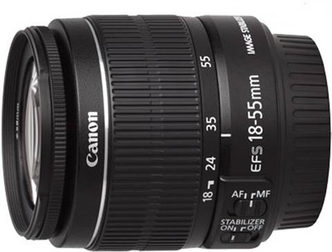 Canon EF-S 18-55mm f/3.5-5.6 IS Black Lens