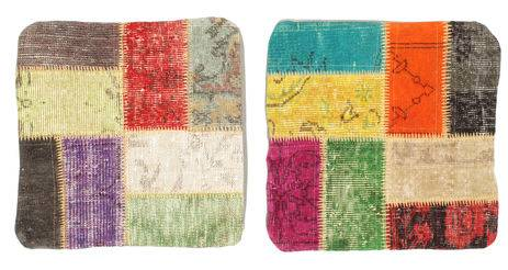 Knotted by hand. Origin: Turkey Patchwork Pillowcase package of 2  1′8″x1′8″ (50x50 cm) Modern