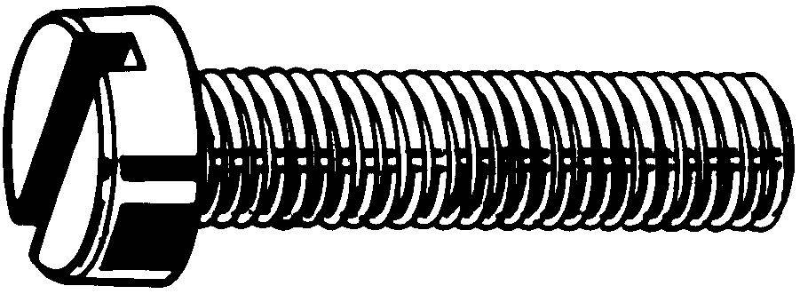 fabory slotted cheese head screw din 84 steel