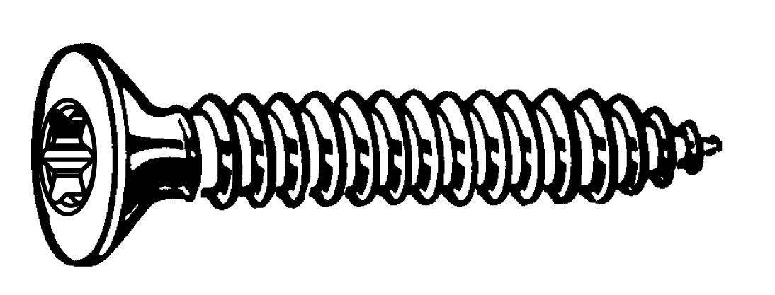 fabory hexalobular socket countersunk head tapping screw iso