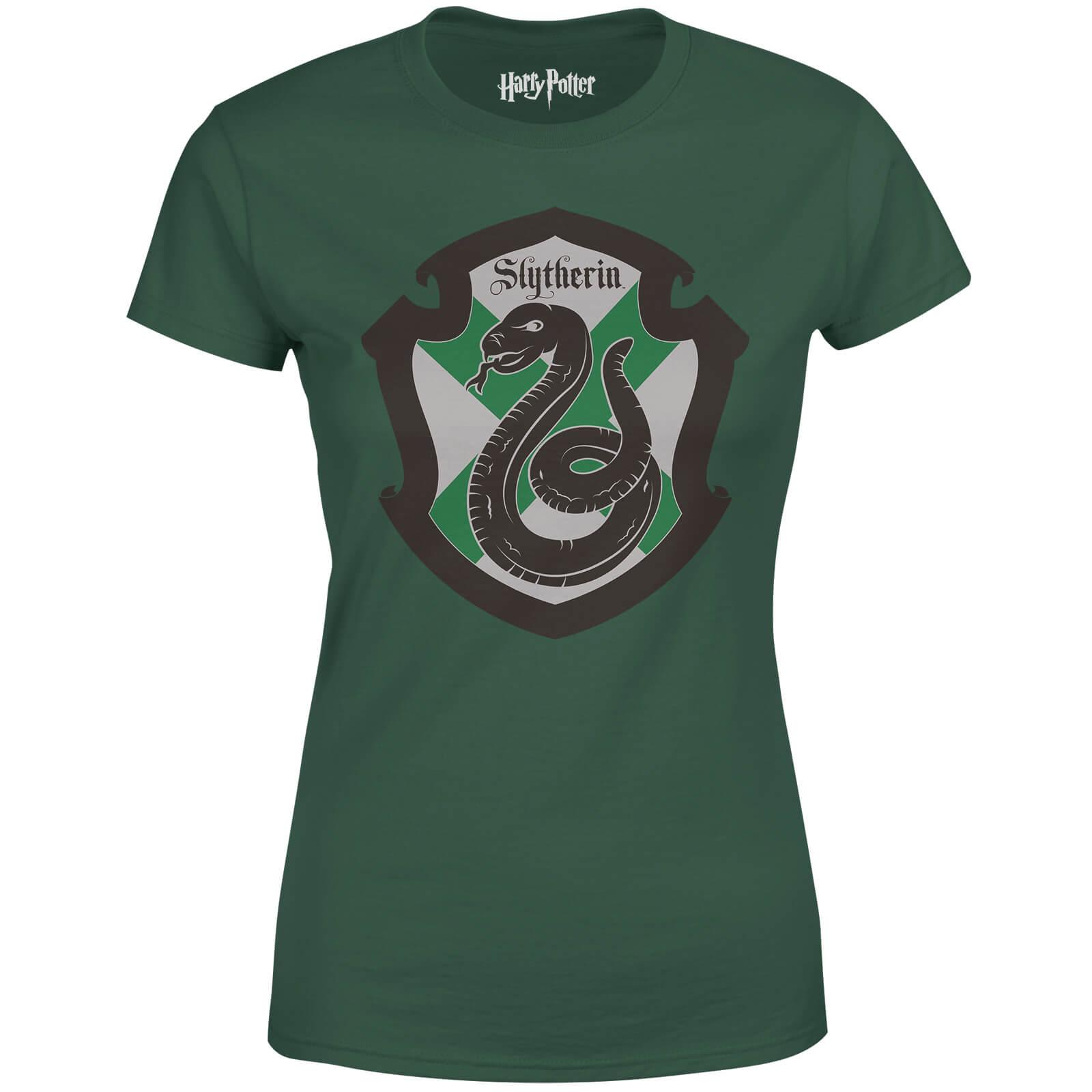 Harry Potter Slytherin House Green Women's T-Shirt - L - Green