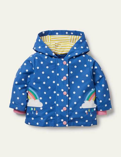 Baby Rainbow 3-in-1 Printed Jacket Venice Blue Spot Baby Boden Jersey Size: 12-18m