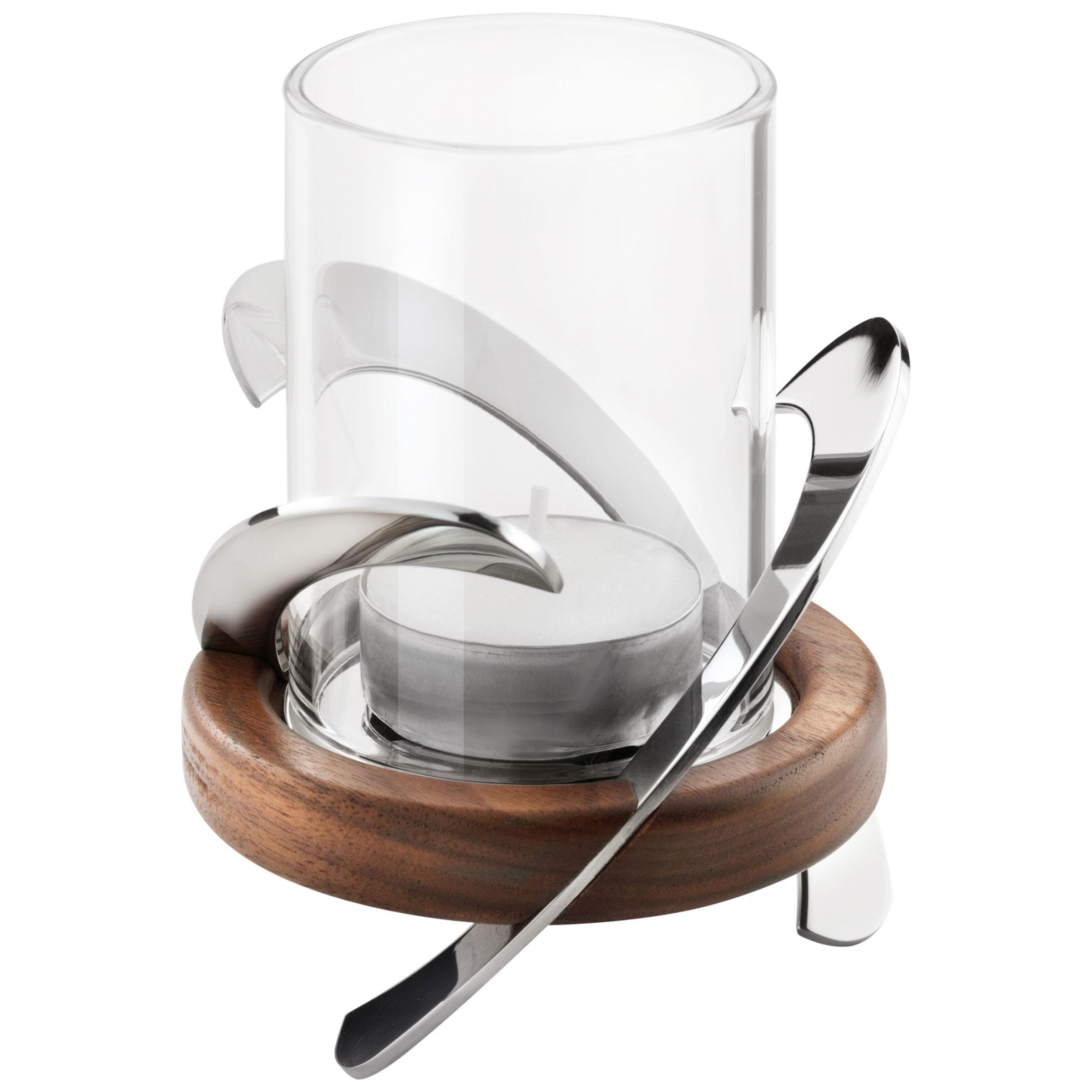 Robert Welch Helix Tea Light Holder  - Silver