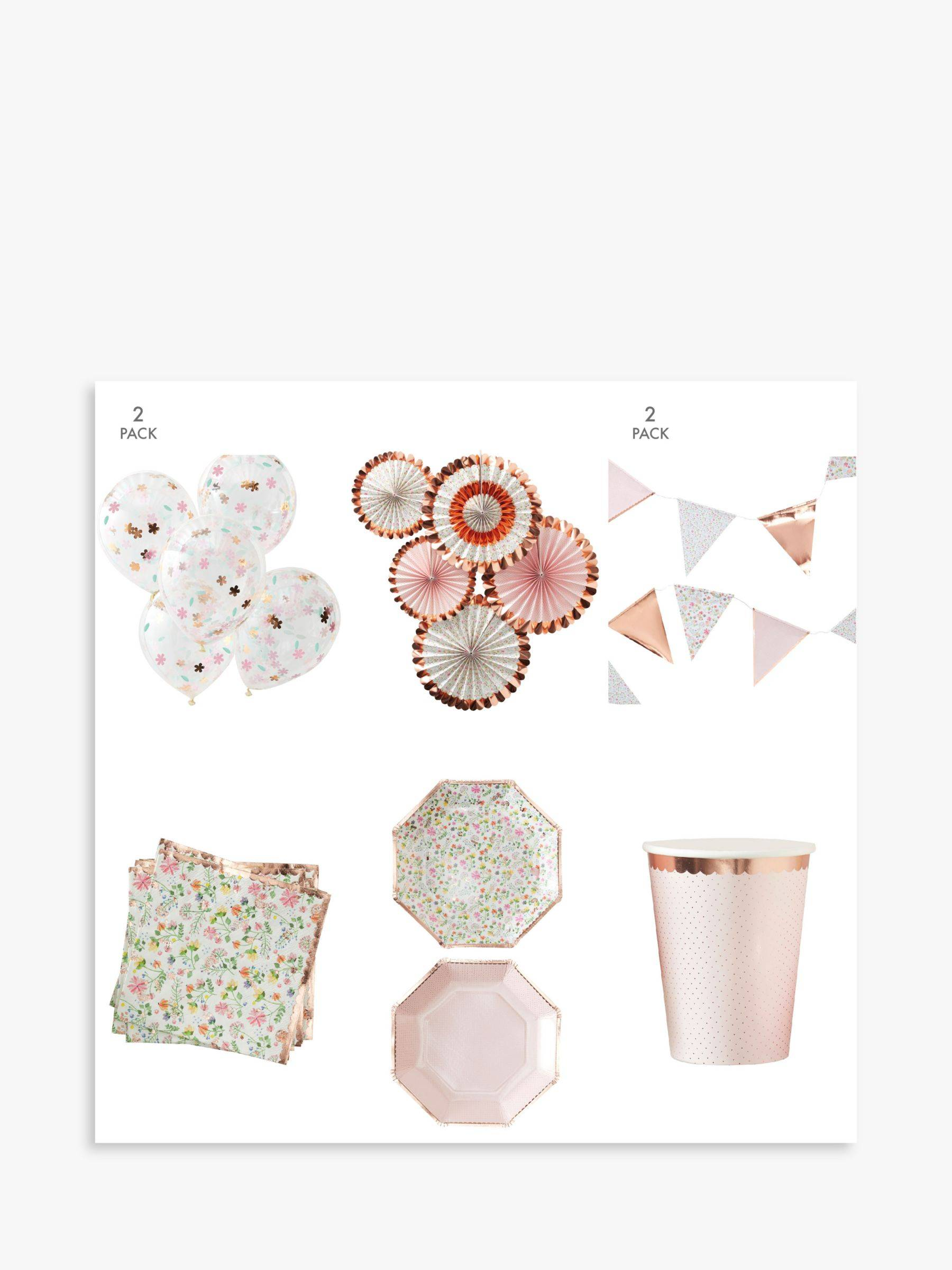 Ginger Ray Ditsy Floral Party Decorations Set  - Multi