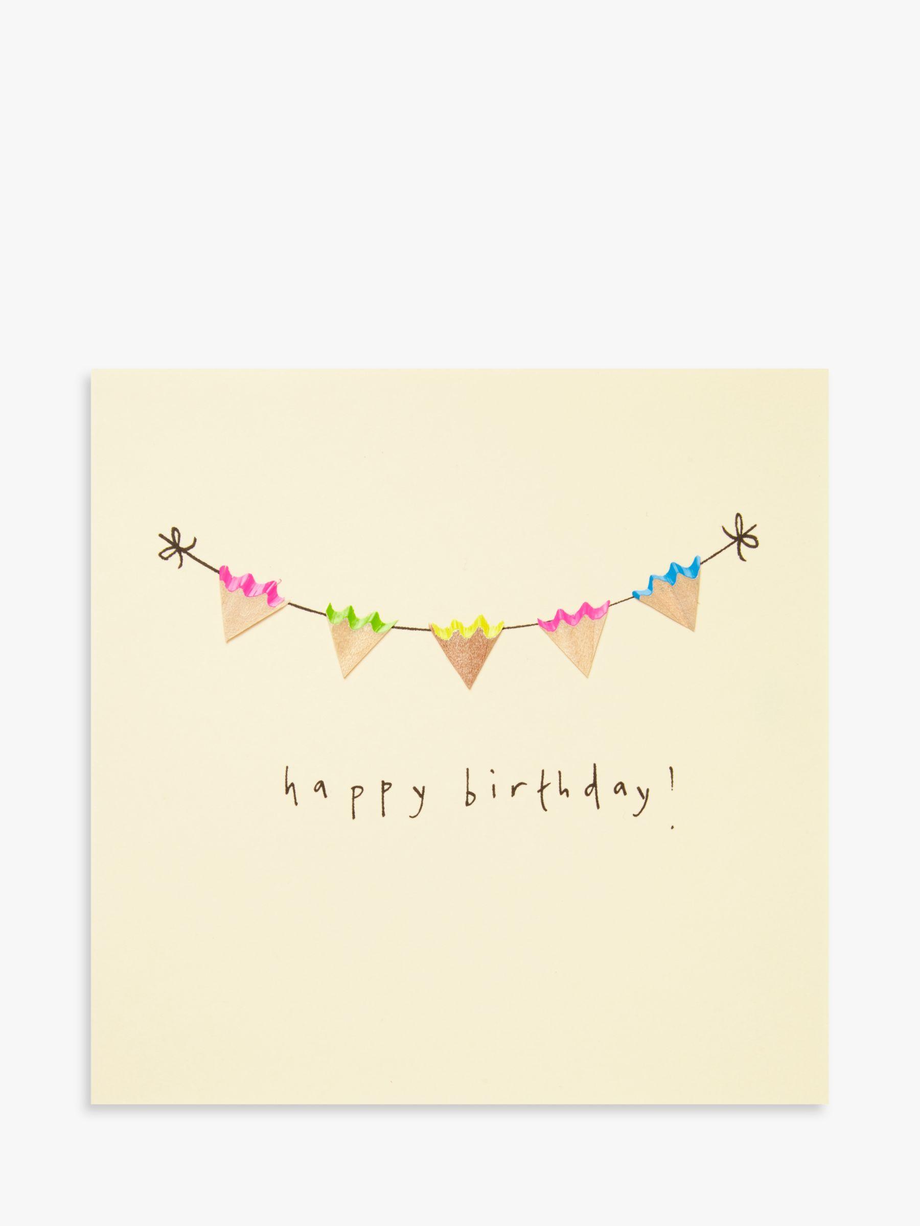 Jackson Ruth Jackson Bunting Birthday Card  - Multi