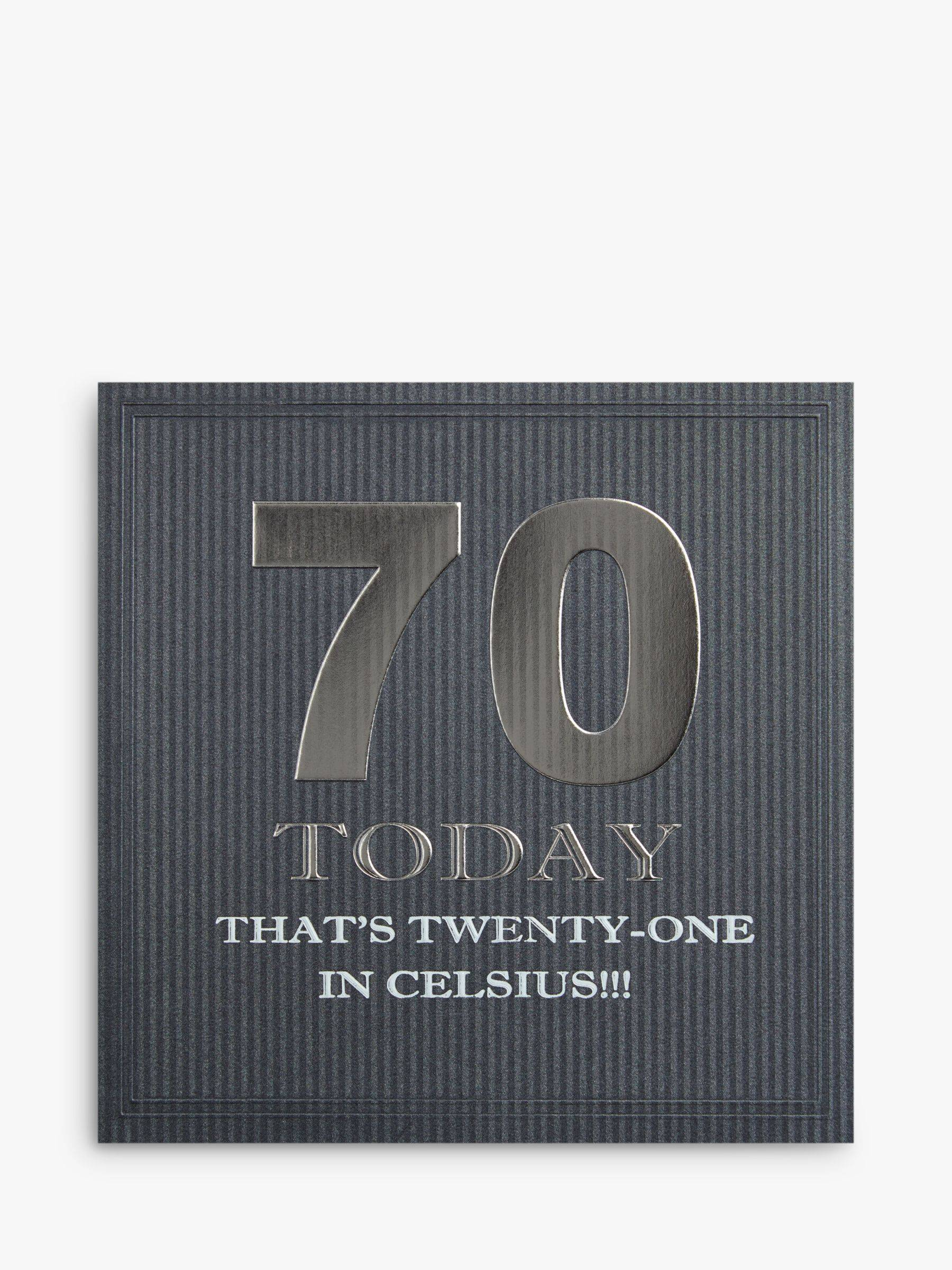 Five Dollar Shake 70 Today Birthday Card  - Multi