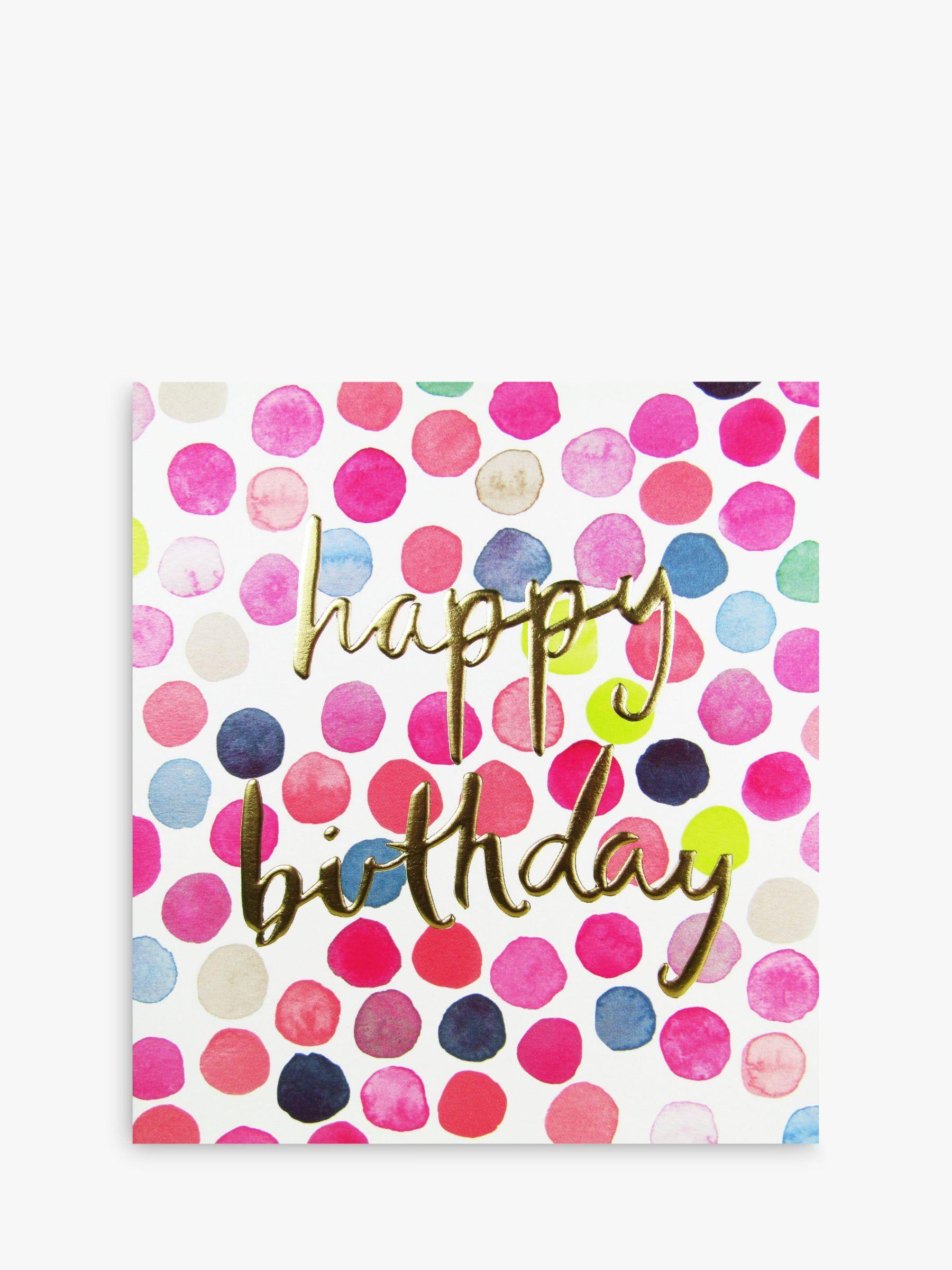 The Proper Mail Company Polka Dots Happy Birthday Card  - Multi