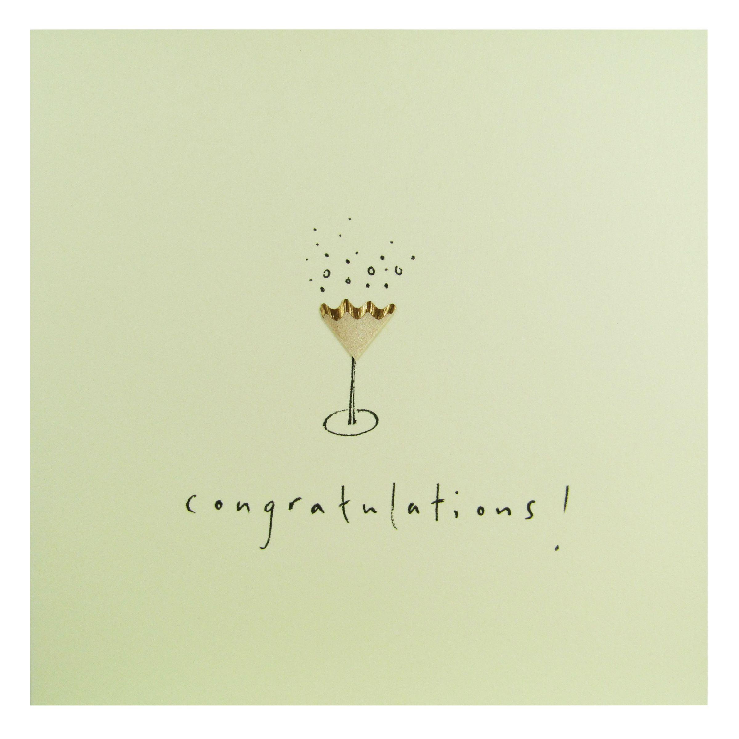 Jackson Ruth Jackson Champagne Congratulations Card  - Multi