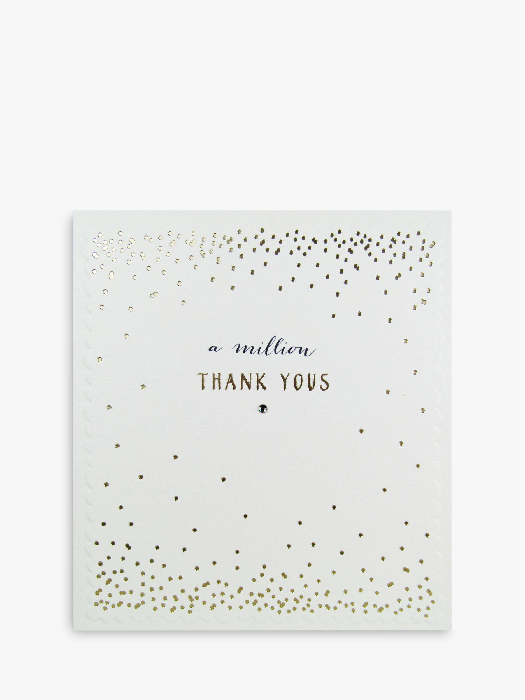 The Proper Mail Company A Million Thanks Greeting Card  - Multi
