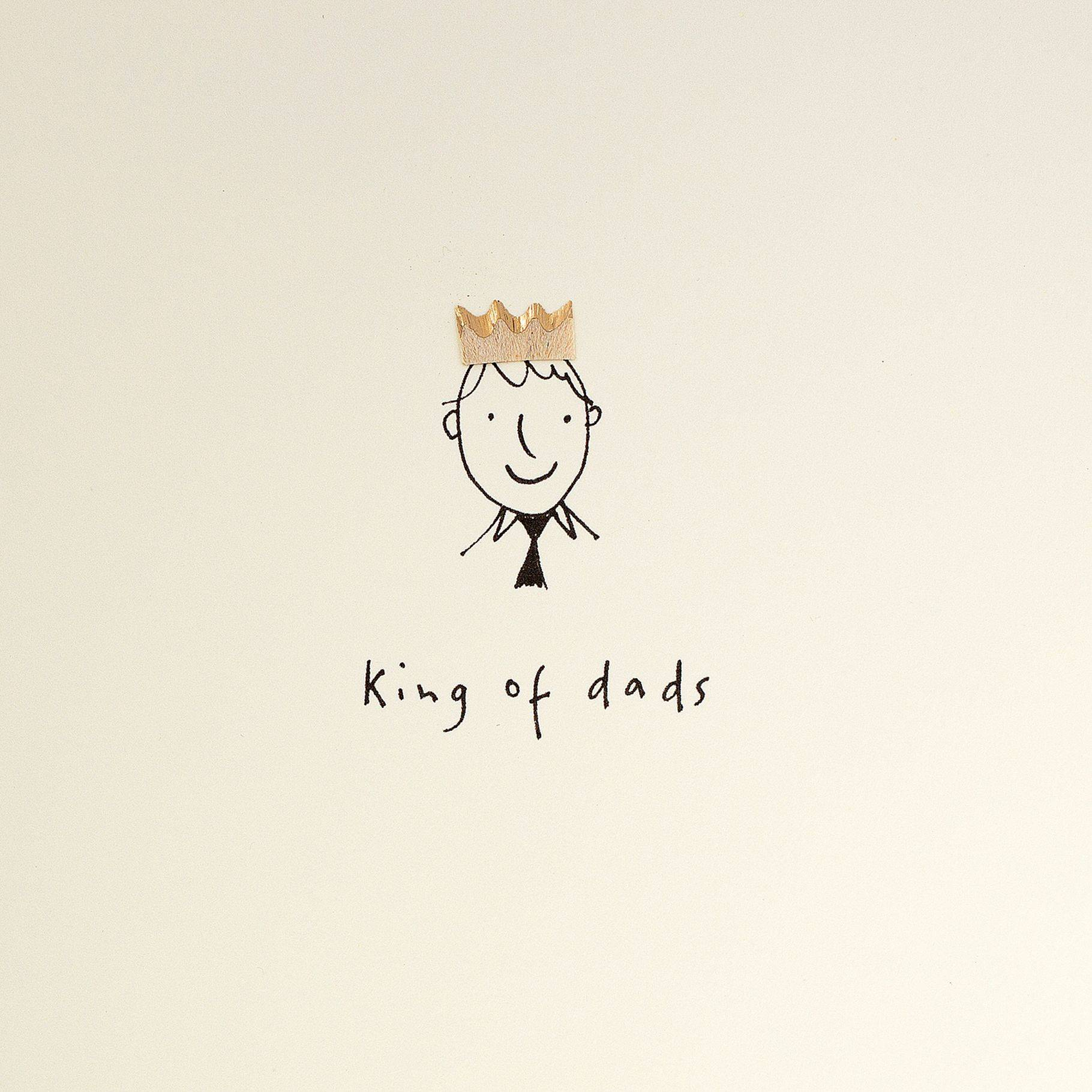 Jackson Ruth Jackson King of Dads Father's Day Card  - Multi