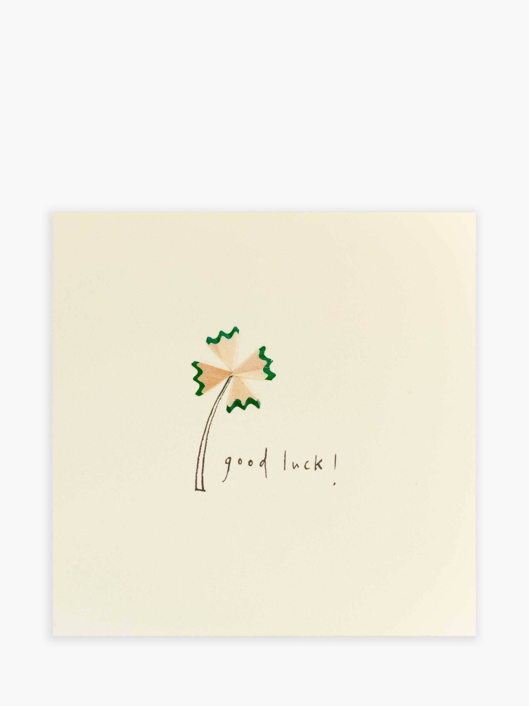 Jackson Ruth Jackson Clover Pencil Good Luck Card  - Multi