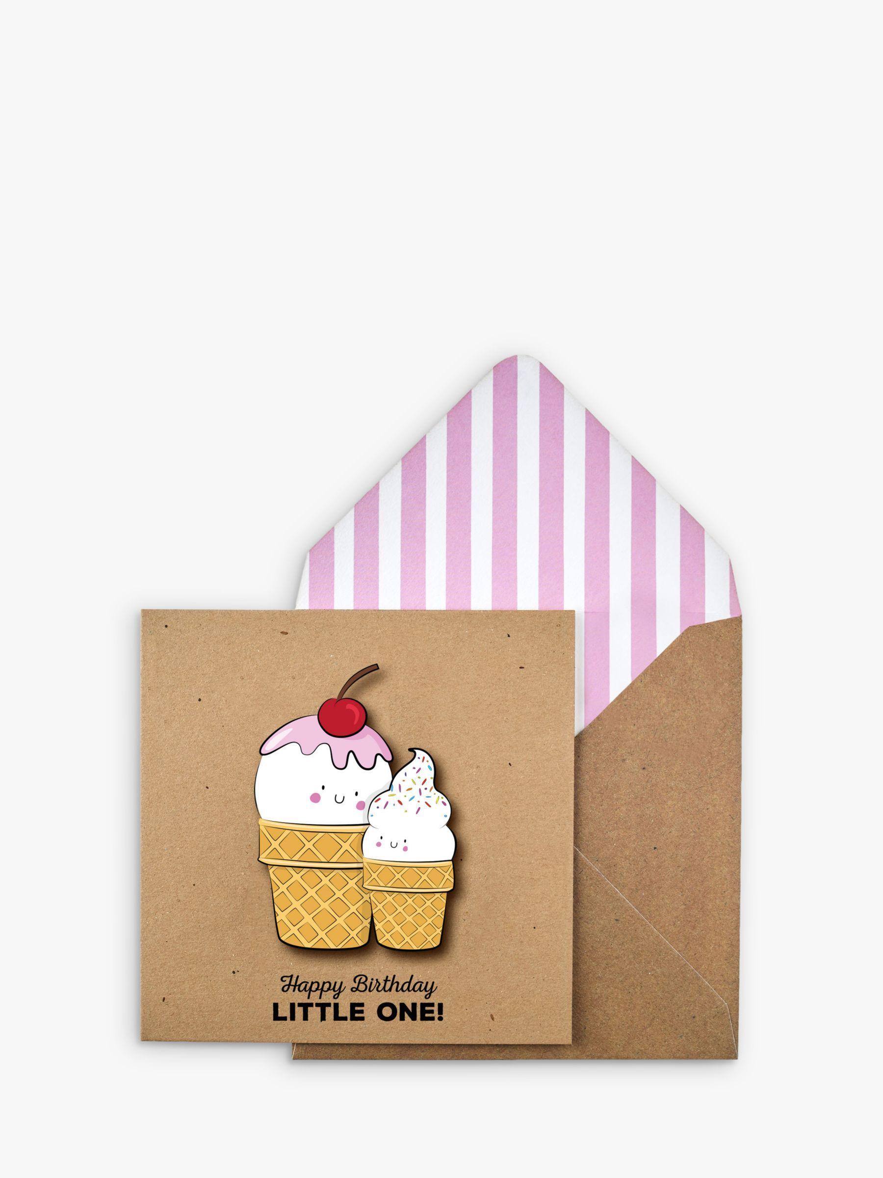 Tache Crafts 3D Party Ice Cream Birthday Card  - Multi