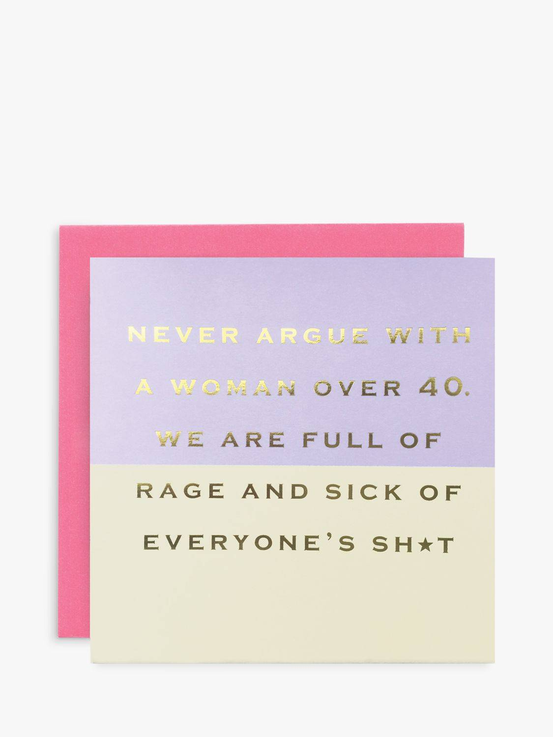 Susan O'Hanlon Woman Over Forty Blank Greeting Card  - Multi