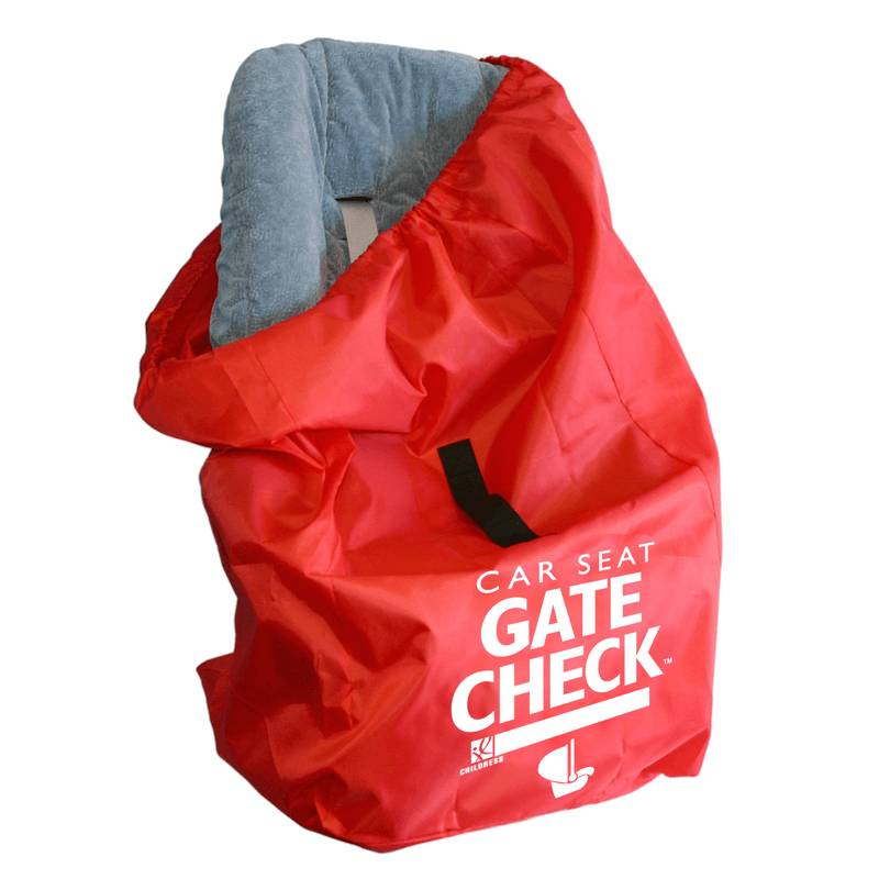 JL Childress Gate Check Bag for Car Seats (Newborn and Above) - Red