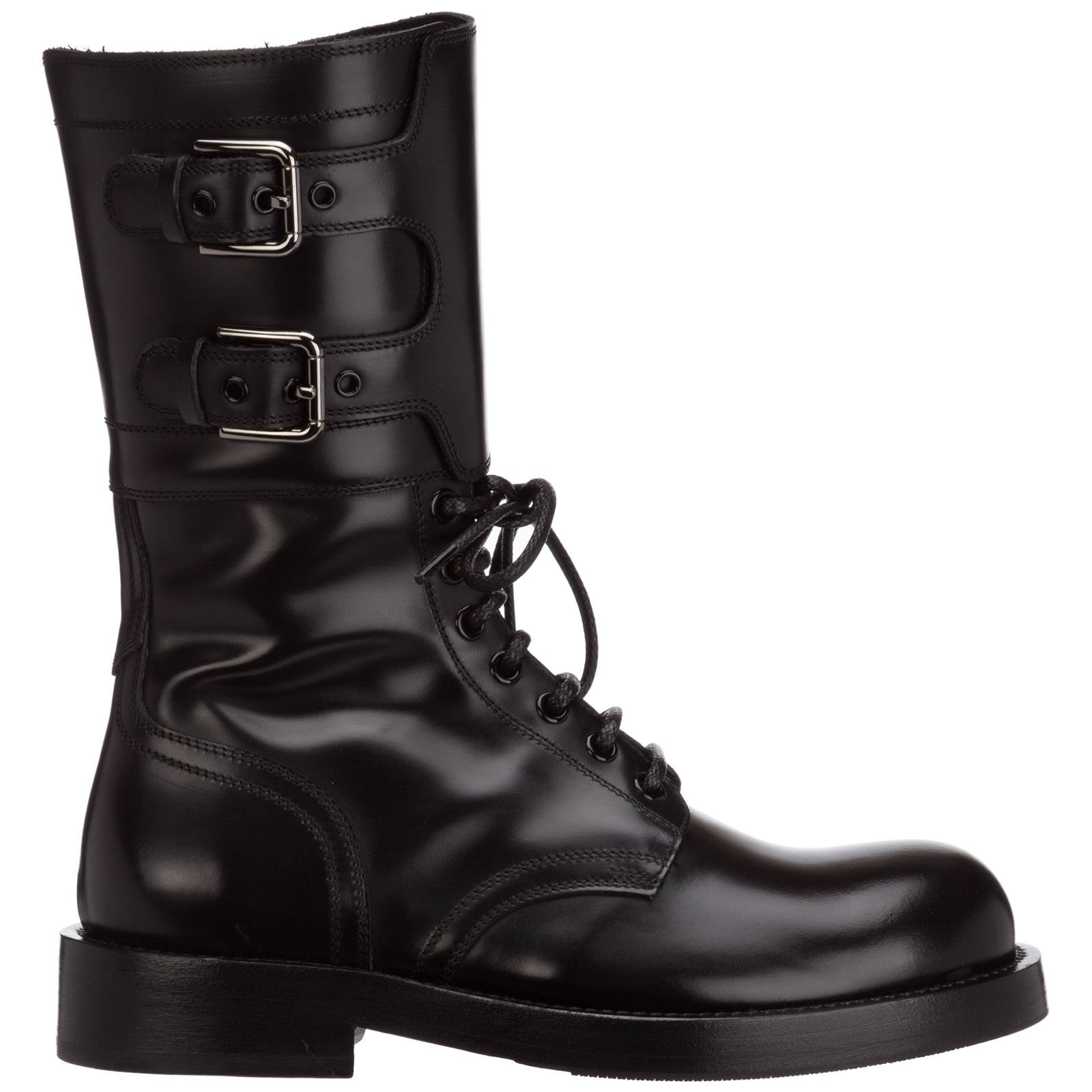 Dolce&Gabbana Women's leather ankle boots booties  - Women - Black - Size: 37