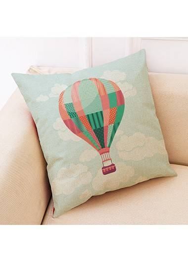 Rotita 1pc 45 X 45cm Balloon Print Pillow Cover Without Filler