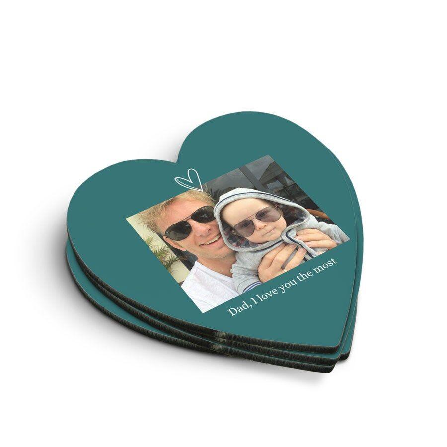 YourSurprise Coasters - Heart (4 pieces)