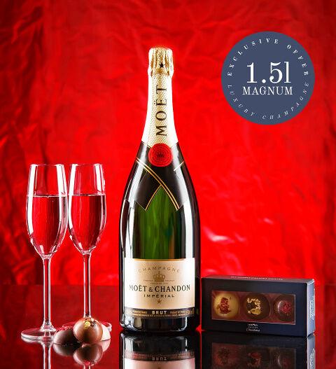 Prestige Hampers Magnum Gift Moet and Chandon - Champagne Gifts - Champagne Delivery - Champagne Gift Sets - Send Champagne