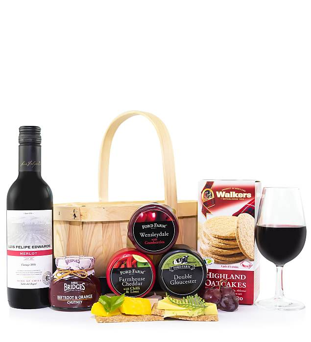 123 Flowers Cheese and Wine Basket - Cheese Gifts - Cheese Gift Delivery - Cheese and Wine Gifts - Cheese and Wine Gift Baskets - Cheese Hampers