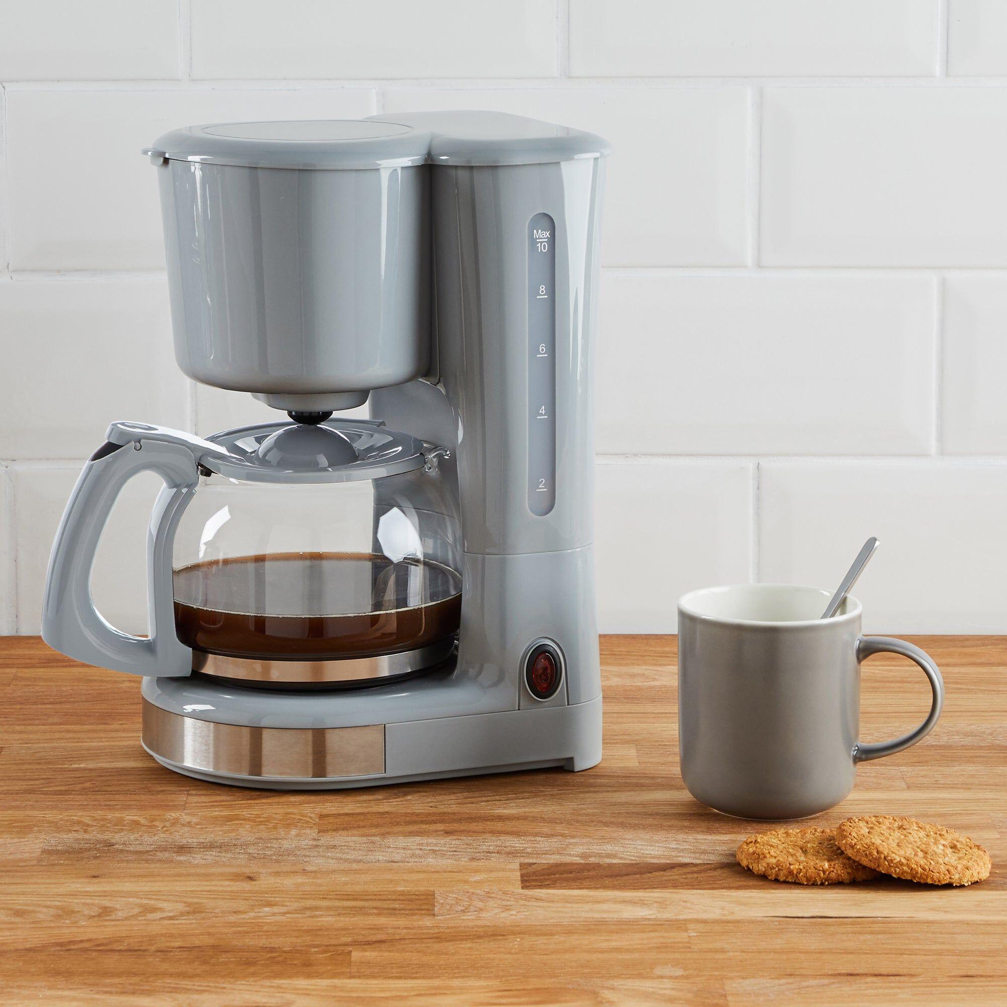 Dunelm 730W-870W Grey Coffee Machine Grey  - Grey