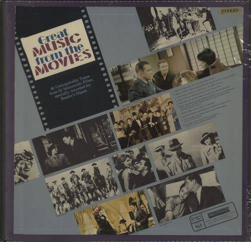 Various-Film, Radio, Theatre & TV Great Music From the Movies 1968 UK vinyl box set RDS2311