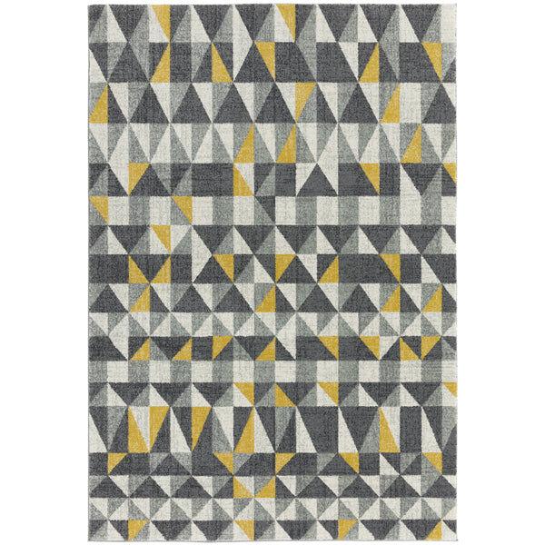 Asiatic Carpets Nova Machine Woven Rug Flag Yellow - 120 x 170cm