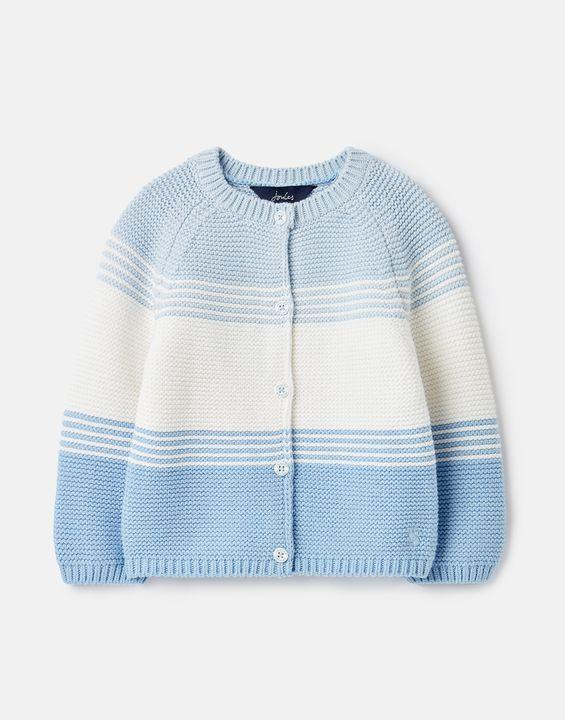 Joules Clothing Haywood Stripe Cardigan 0-24 Months - BLUE MULTI STRIPE