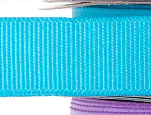15mm x 20m - Blue Premium Grosgrain Fabric Ribbon - 1 Reel