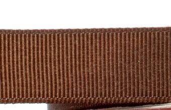 15mm x 20m - Brown Premium Grosgrain Fabric Ribbon - 1 Reel