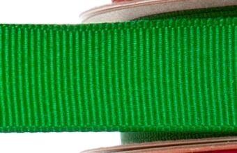 15mm x 20m - Green Premium Grosgrain Fabric Ribbon - 1 Reel