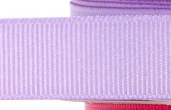 15mm x 20m - Lilac Premium Grosgrain Fabric Ribbon - 1 Reel