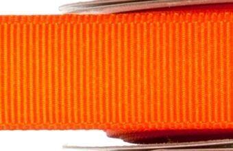 15mm x 20m - Orange Premium Grosgrain Fabric Ribbon - 1 Reel
