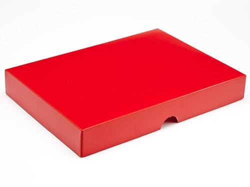 221 x 159 x 32mm - Red Gift Boxes - Lid - 25 Lids
