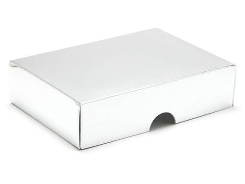 112 x 82 x 32mm - Silver Gift Boxes - Lid - 25 Lids