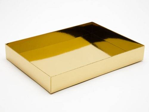 221 x 159 x 32mm - Gold Gift Boxes - Base - 25 Bases