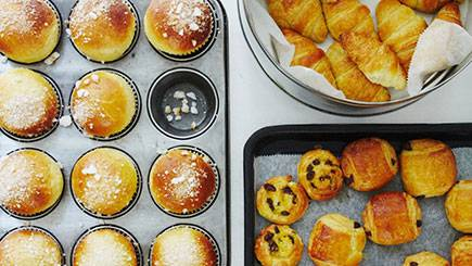 French Breakfast Pastries at Cookery School in London