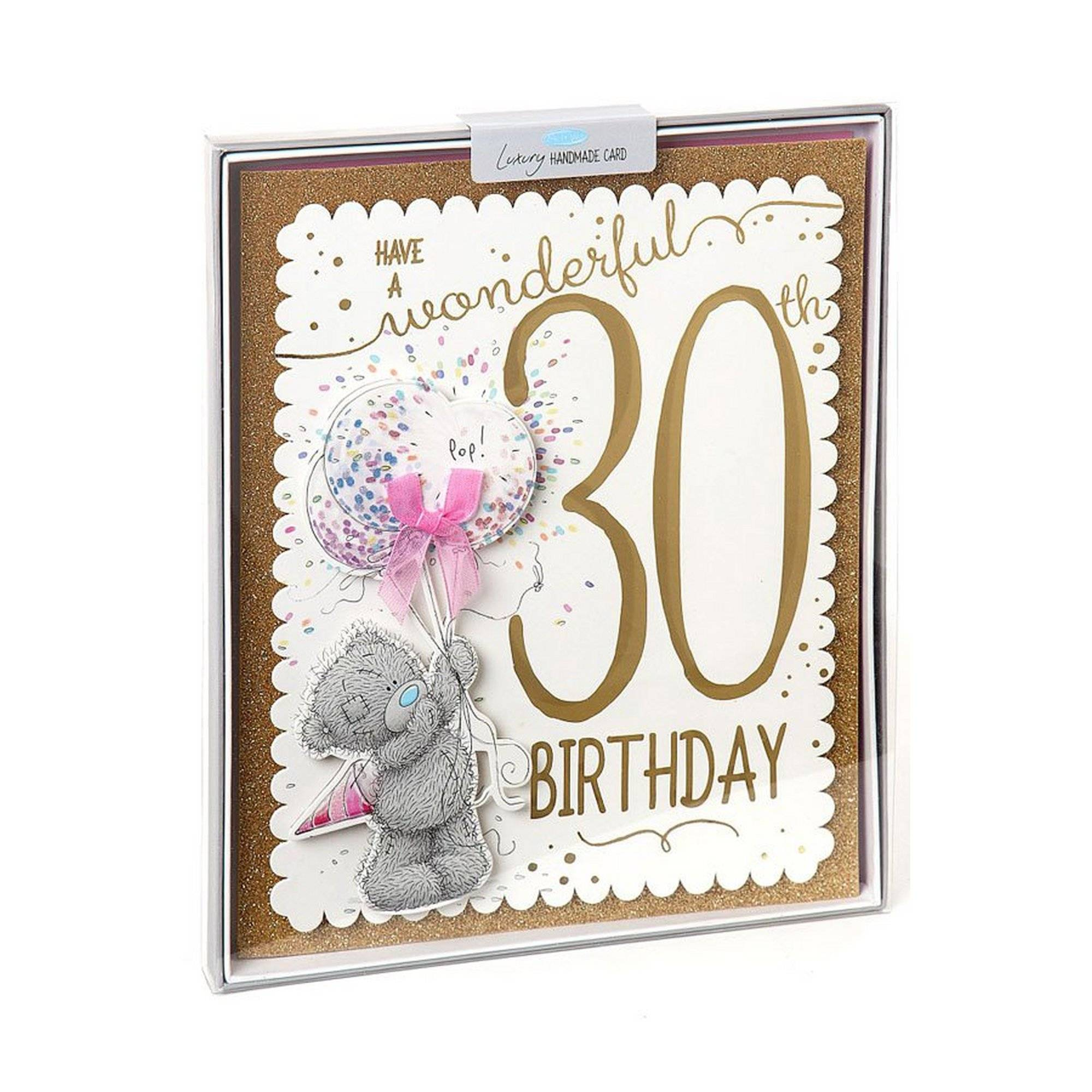 Me To You 30th Birthday Boxed Card  - Multi