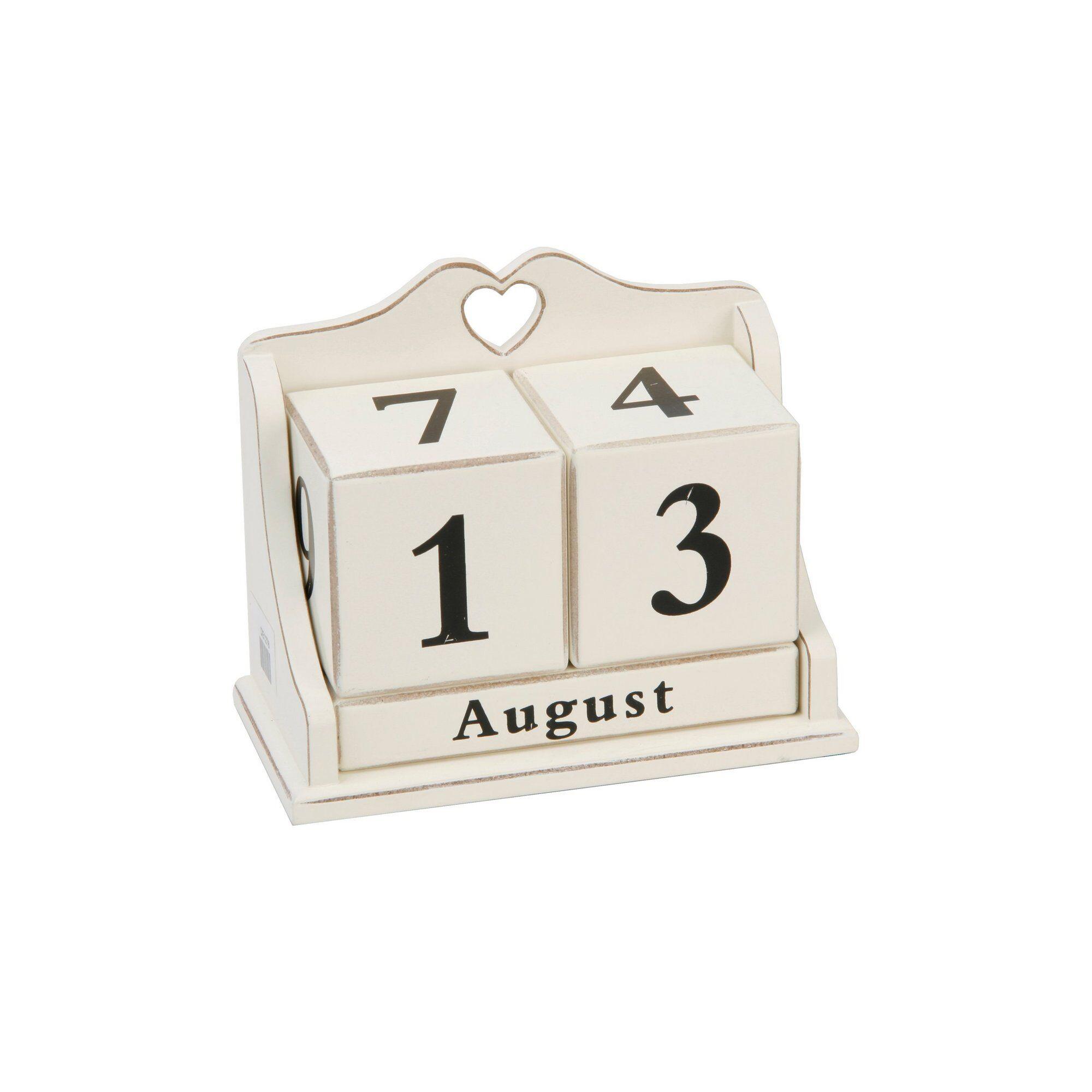 Studio Cream Heart Perpetual Calendar  - Natural