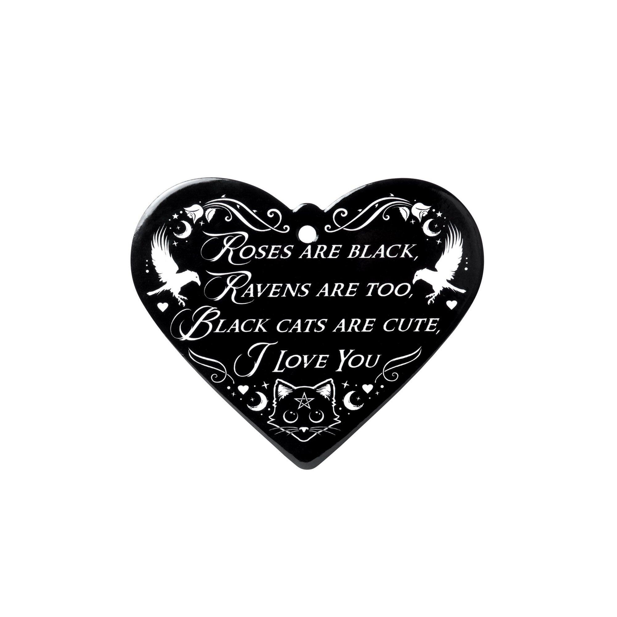 Studio Roses Are Black - Poetic Heart Coaster  - Multi