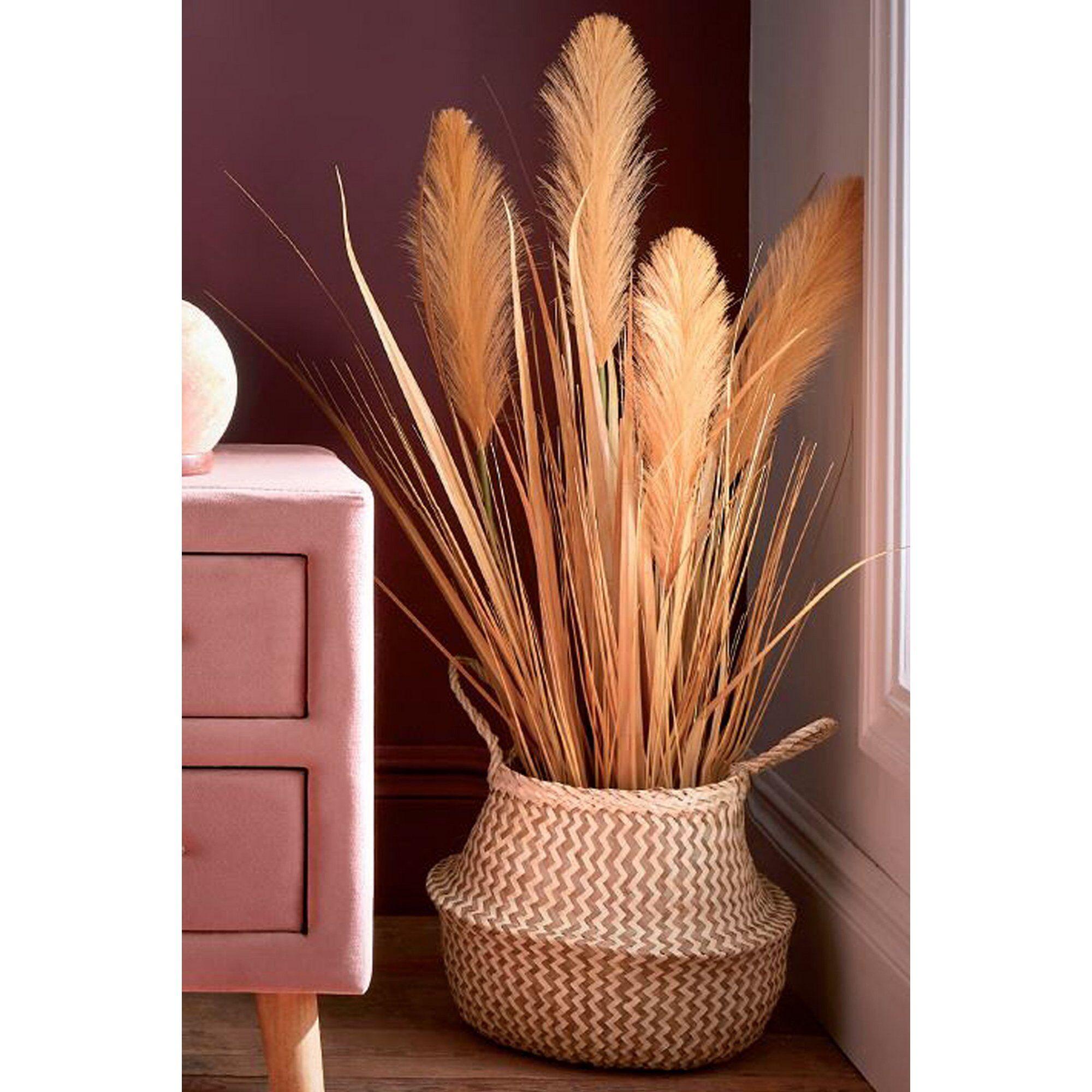 Joe Browns Faux Pampas Grass in Pot  - Gold