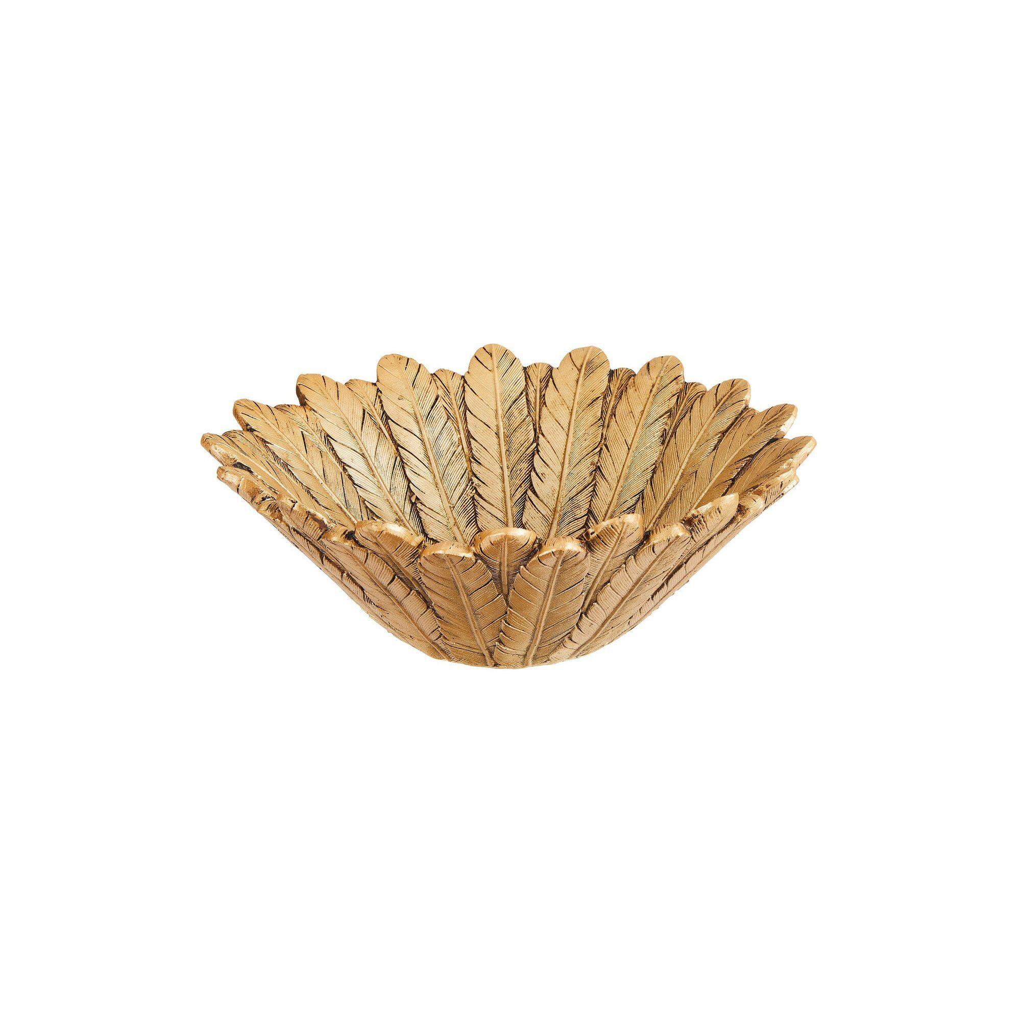 Joe Browns Gorgeous Feather Bowl  - Gold