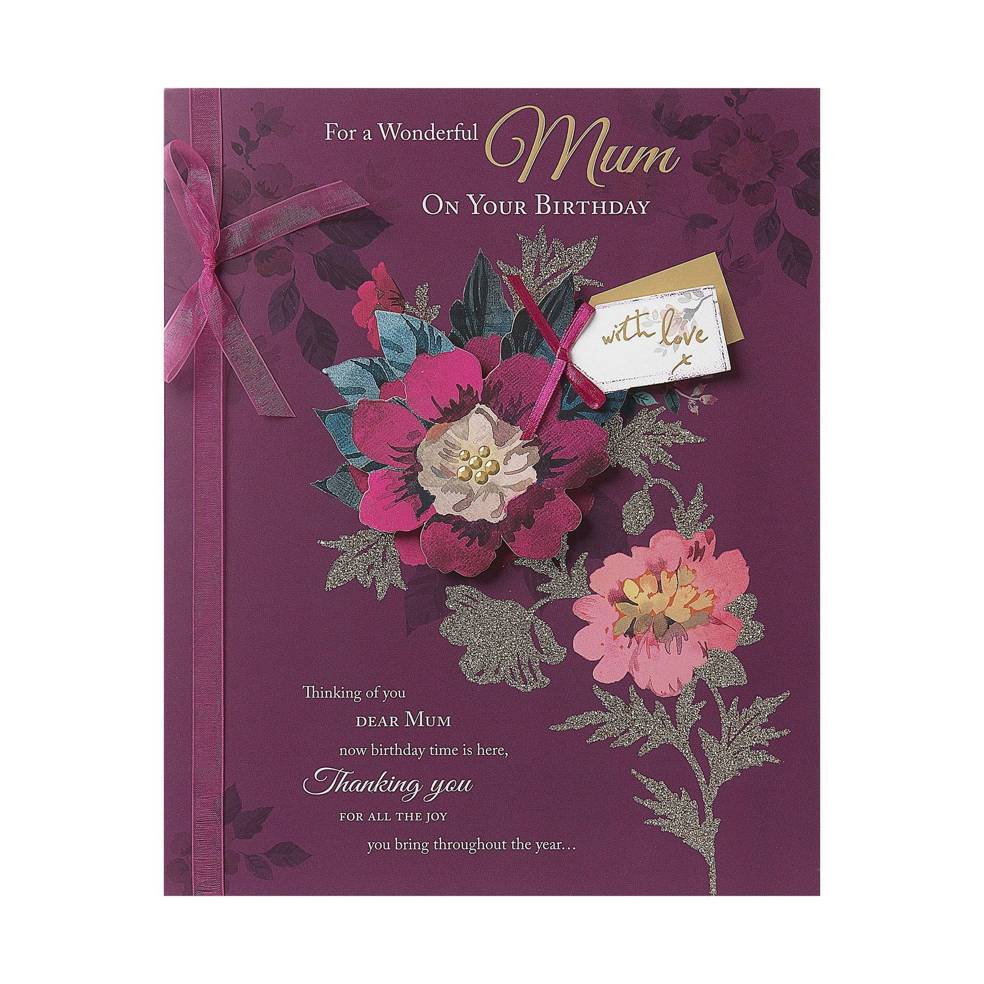 Me To You Floral Mum Boxed Birthday Card  - Multi